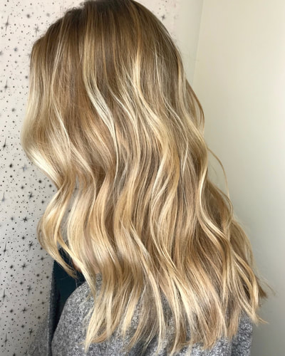 balayage, honey blonde hair, blonde highlights